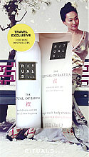 Parfémy, Parfumerie, kosmetika Sada s extraktem z květů sakury a rýžového mléka - Rituals Cosmetics Mini Sakura Set (b/cr/70ml + sh/gel/50ml)