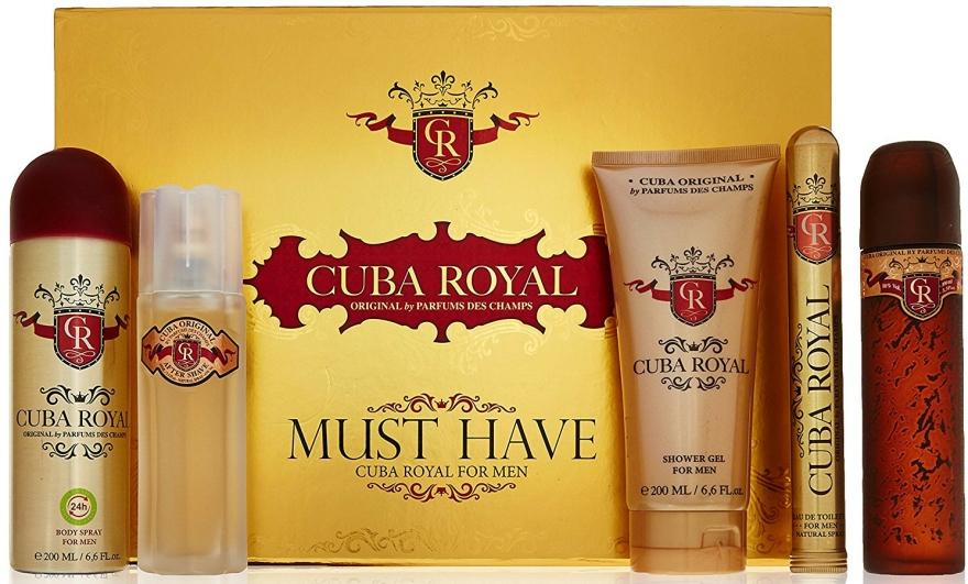 Cuba Royal Must Have - Sada (edt/100ml + ash 100ml + sh/gel/200ml + deo/200ml + edt/35ml) — foto N1
