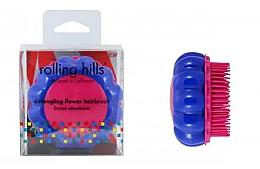 Parfémy, Parfumerie, kosmetika Kompaktní kartáč na vlasy Heřmánek, modrý/růžový - Rolling Hills Brosse Desenredar Flower