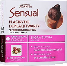 Parfémy, Parfumerie, kosmetika Voskový depilační náplast na obličej s arganovým olejem - Joanna Sensual Depilatory Face Strips