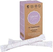 Parfémy, Parfumerie, kosmetika Tampony s aplikátorem Normal, 14 ks - Ginger Organic