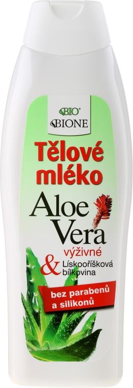 Hydratační tělové mléko - Bione Cosmetics Aloe Vera Nourishing Body Lotion With Collagen