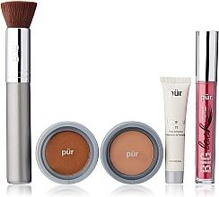 Parfémy, Parfumerie, kosmetika Sada - Pur Minerals Best Sellers Starter Kit Blush Medium (primer/10ml+found/4.3g+bronzer/3.4g+mascara/5g+brush)