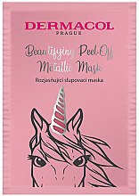 Parfémy, Parfumerie, kosmetika Maska na obličej - Dermacol Beautifying Brightening Peel-Off Metallic Mask