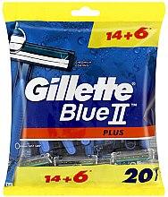Parfémy, Parfumerie, kosmetika Sada jednorázových holicích strojků, 14+6 ks - Gillette Blue II