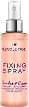 Parfémy, Parfumerie, kosmetika Fixační sprej na make-up - I Heart Revolution Fixing Spray Peaches & Cream