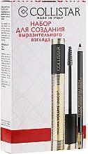 Parfémy, Parfumerie, kosmetika Sada pro vytvoření výrazného pohledu - Collistar (mascara/13ml + eye/p/1.2ml)