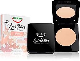 Parfémy, Parfumerie, kosmetika Kompaktní pudr na obličej - Equilibra Love's Nature Compact Face Powder