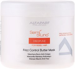 Parfémy, Parfumerie, kosmetika Maska pro nepoddajné vlasy - Alfaparf Semi di Lino Discipline Frizz Mask