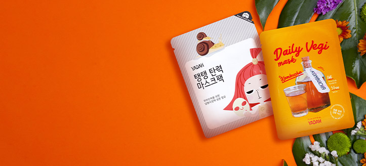 K nákupu produktů Yadah v hodnotě nad 300 Kč získej jako dárek pleťovou masku dle výběru