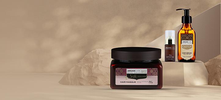 K nákupu dvou produktů značky Arganicare získej vlasovou masku s proteiny hedvábí jako dárek