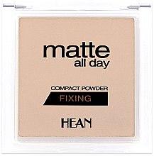 Parfémy, Parfumerie, kosmetika Pudr na obličej - Hean Matte All Day Compact Powder