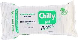 Parfémy, Parfumerie, kosmetika Ubrousky pro intimní hygienu ''Čerstvost'' - Chilly Gel Fresh Intimate Wipes