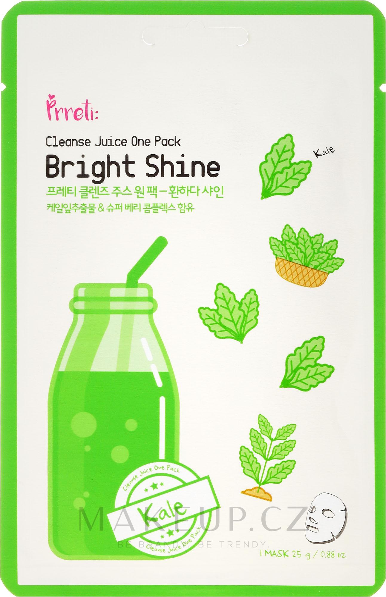 Maska na obličej s extraktem zelí - Prreti Cleanse Juice One Pack — foto 25 g