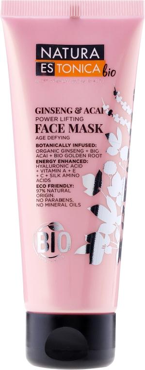 Liftingová maska na obličej - Natura Estonica Ginseng & Acai Face Mask