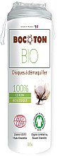Parfémy, Parfumerie, kosmetika Organické bavlněné tampony kulaté, 80 ks - Bocoton