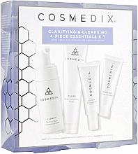 Parfémy, Parfumerie, kosmetika Sada - Cosmedix Clarifying & Cleansing 4-Piece Essentials Kit (f/cleanser/60ml + f/ser/15ml + f/mask/30g + f/cr/15ml)