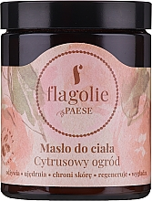 Parfémy, Parfumerie, kosmetika Tělové máslo Citrusová zahrada - Flagolie by Paese Citrus Garden