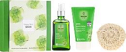 Parfémy, Parfumerie, kosmetika Sada - Weleda Happy Skin (b/peel/150ml + b/oil/100ml + sh/sponge)