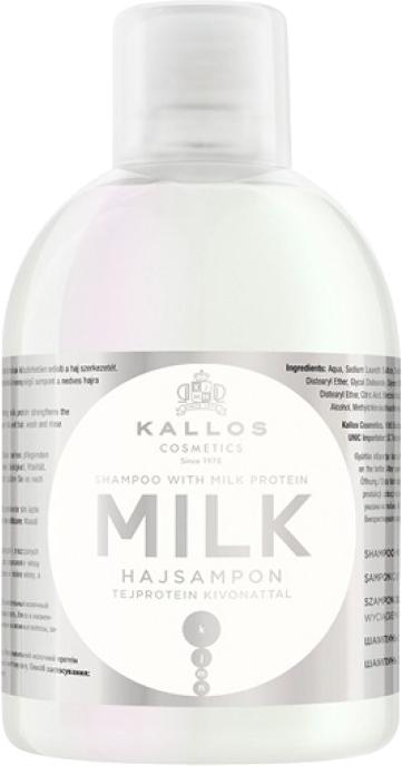 Výživný mléčný proteinový šampon pro suché a poškozené vlasy - Kallos Cosmetics Milk Protein Shampoo
