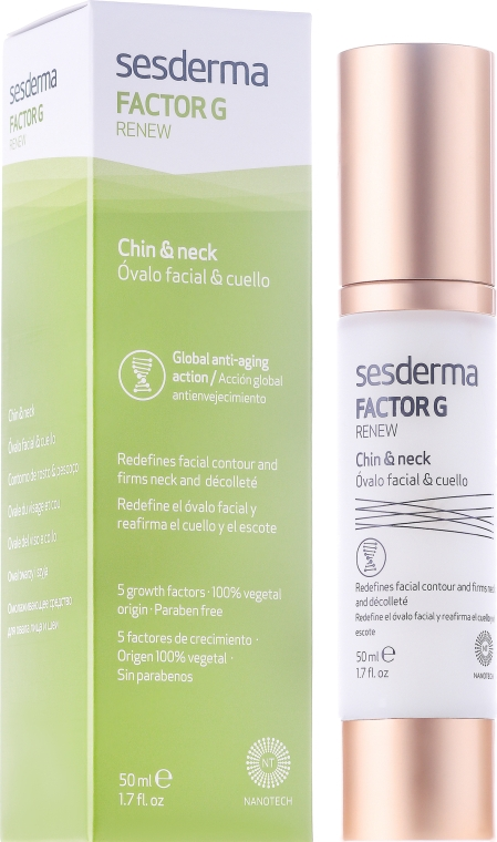 Omlazující krém pro oválný obličej a krk - SesDerma Laboratories FactorG Renew Oval face & Neck — foto N1