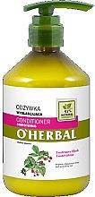 Parfémy, Parfumerie, kosmetika Vyhlazující balzám-kondicionér na vlasy pro lesk vlasů s extraktem malin - O'Herbal