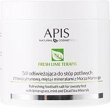 Parfémy, Parfumerie, kosmetika Osvěžující sůl do koupele - APIS Professional Fresh Lime Terapis Refreshing Footbath Salt