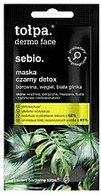 Parfémy, Parfumerie, kosmetika Detox maska na obličej - Tolpa Dermo Face Sebio Black Detox Mask (mini)