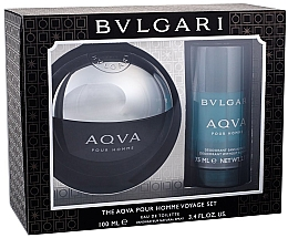 Parfémy, Parfumerie, kosmetika Bvlgari Aqva Pour Homme - Sada (edt/100ml + deo/75ml)