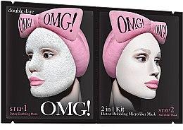 Parfémy, Parfumerie, kosmetika Dvousložková maska pro čištění obličeje - Double Dare OMG! 2in1 Kit Detox Bubbling Microfiber Mask