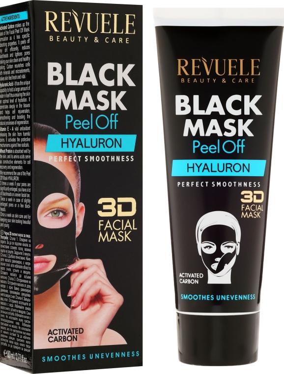 Černá pleťová maska Hyaluron - Revuele Black Mask Peel Off Hyaluron