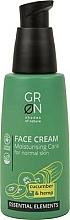 Parfémy, Parfumerie, kosmetika Pleťový krém - GRN Essential Elements Cucumber & Hemp Face Cream
