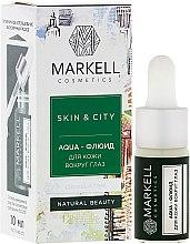 """Parfémy, Parfumerie, kosmetika Aqua-fluidum pro pokožku kolem očí """"Sněhové houby"""" - Markell Cosmetics Skin&City Face Mask"""