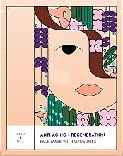 Parfémy, Parfumerie, kosmetika Regenerační pleťová maska - You & Oil Anti-Aging & Regeneration Face Mask With Liposomes