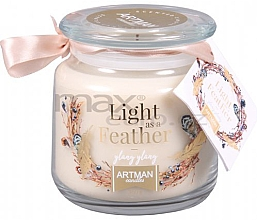 Parfémy, Parfumerie, kosmetika Vonná svíčka - Artman Light As Feather
