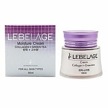 Parfémy, Parfumerie, kosmetika Zvlhčující a výživný krém s kolagnem a zeleným čajem - Lebelage Collagen+Green Tea Moisture Cream