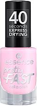 Parfémy, Parfumerie, kosmetika Lak na nehty - Essence Pretty Fast Nail Polish
