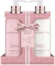 Parfémy, Parfumerie, kosmetika Sada - Baylis & Harding Jojoba, Vanilla & Almond Oil (h/wash/300ml + h/b/lot/300ml)
