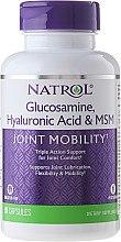 Parfémy, Parfumerie, kosmetika Komplex Kyselina hyaluronová MCM a glukosamin, 90 ks - Natrol Glucosamine Hyaluronic Acid & MSM