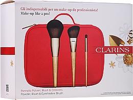 Parfémy, Parfumerie, kosmetika Sada kosmetických štětců na líčení - Clarins (brush/3pcs + bag)