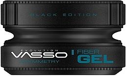 Parfémy, Parfumerie, kosmetika Stylingový gel - Vasso Professional Hair Styling Wax Fiber Gel Black Edition Asymmetry