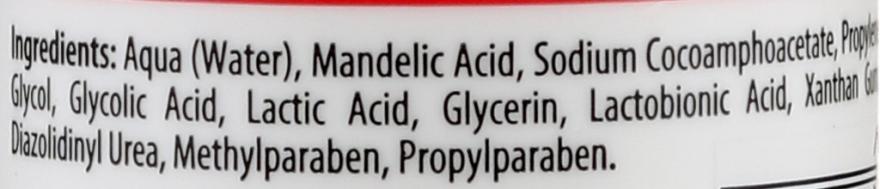 Exfoliační gel 10% kyselina mandlová + AHA + kyselina mléčná - Bielenda Professional Exfoliation Face Program Cleansing Face Gel — foto N2