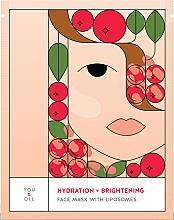 Parfémy, Parfumerie, kosmetika Hyratační zesvětlující pleťova maska - You & Oil Hydration & Brightening Face Mask With Liposomes