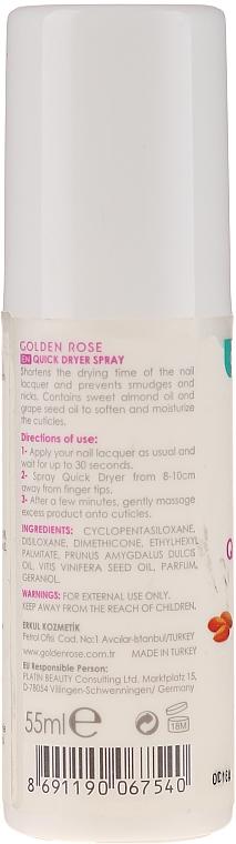 Sušicí sprej na nehty - Golden Rose Nail Quick Dryer Spray — foto N2