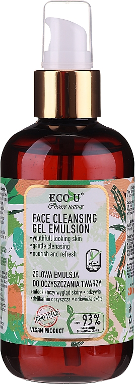 Gelová čistící emulze na obličej - Eco U Face Cleansing Gel Emulsion
