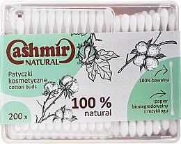 Parfémy, Parfumerie, kosmetika Vatové tyčinky, 200 ks - Cashmir Natural Cotton Buds (v krabičce)