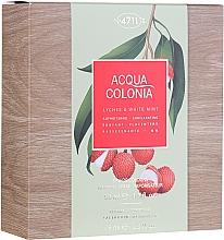 Parfémy, Parfumerie, kosmetika Maurer & Wirtz 4711 Aqua Colognia Lychee & White Mint - Sada  (edc/50ml + sh/gel/75ml)