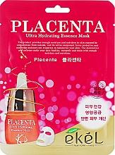 Parfémy, Parfumerie, kosmetika Anti-age plátýnková maska s placentou - Ekel Placenta Ultra Hydrating Essence Mask
