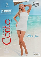 Parfémy, Parfumerie, kosmetika Dámské půnčochače «Summer» 8 Den, natural  - Conte