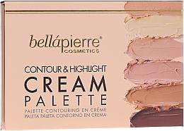 Parfémy, Parfumerie, kosmetika Krémová konturovací paletka - Bellapierre Cosmetics Contour & Highlight Cream Pelette